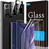 Fotbor [2 Pack] Screen Protector + [2 Pack] Camera Lens Protector for Samsung Galaxy Note 20 Ultra (6.9''), [In-Display Fingerprint Support] HD Clear Scratch Resistant Bubble Free Flexible TPU Film (Clear)