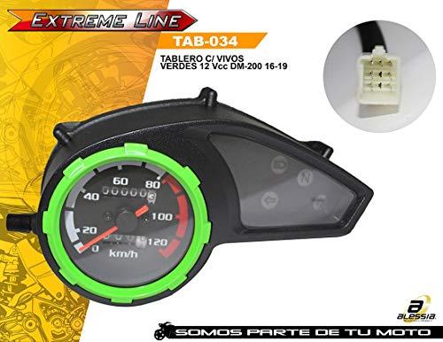 ALESSIA Tablero C/Vivos Verdes 12 Vcc DM-200 16-18