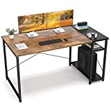 Ecoprsio Home Office Computer Desk, 47'' Industrial Writing Desk Table with Storage Shelves, 2-Tier...