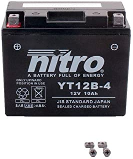 Batería 12 V 10 Ah YT12B-4 Gel Nitro XVS 650 Drag Star Classic VM041 04 – 07