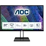 AOC 24V2Q – Monitor de 24' Full HD (1920x1080, 75 Hz, IPS, FreeSync, 250 cd/m, HDMI 1x1.4, Displayport 1x1.2) Negro