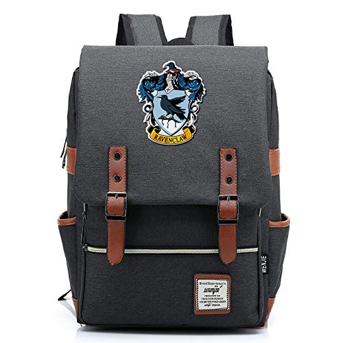MMZ Casual School Bag Ravenclaw Backpack for Boys and Girls Harry Potter Rucksack for Men and Women Medium Dark Gray