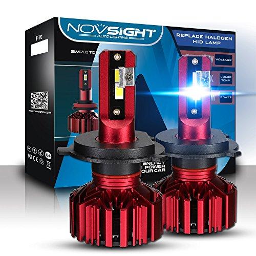 Kit de conversion ampoules de phare LED 10000LM - Éclairage extérieur brillant lumière blanche, feux de brouillard, 6000 K Xenon. Lot de 2