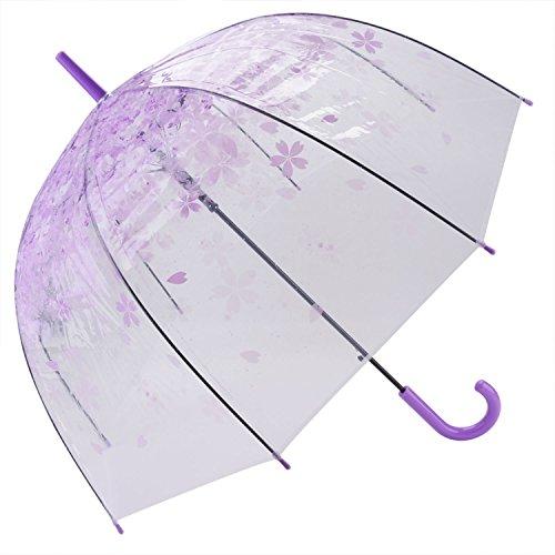 JUSTDOLIFE heldere bloem Bubble Dome vorm lange regen paraplu roze Paars