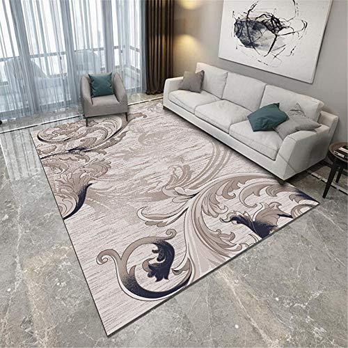 Kunsen Alfombras Pequeñas para Dormitorio Abstrakter Luxus großer Teppich Lila Gelbe Geometrie alfombras niños Cómodo Alfombra de Sala de Estar Alfombra Antideslizante Lavable fácil de $ 160X200CM