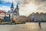 Checa Plaza de la Ciudad Vieja de Praga Rompecabezas para Adultos 1000 Pieza de Madera de Viaje de Regalo de Recuerdo