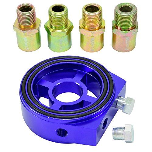 Filtre à huile Sandwich Adaptateur plaque 1/8 NPT Capteur de température de l'huile M18 M20 M22 3/4-16