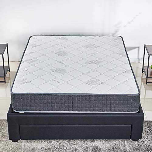 10 inch Latex Hybrid Coil Spring Mattress/Cooling Bed in a Box-Pocket Innerspring Mattress/CertiPUR-US/20Years Warranty/Firm But Comfortable (Twin)