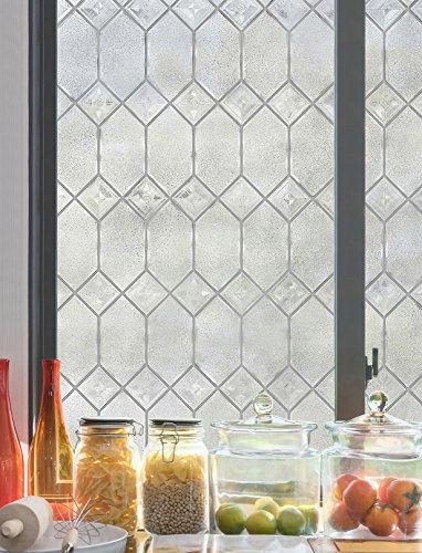 Artscape Sichtschutzfolie Old English Fenster Film, Silber, 61x 92cm