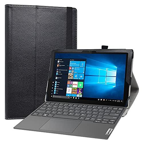 Labanem Funda para Lenovo IdeaPad Duet 3i, Slim Fit Carcasa de Cuero Sintético con Función de Soporte Folio Case Cover para 10.3' Lenovo IdeaPad Duet 3i 10IGL5 Tablet - Negro