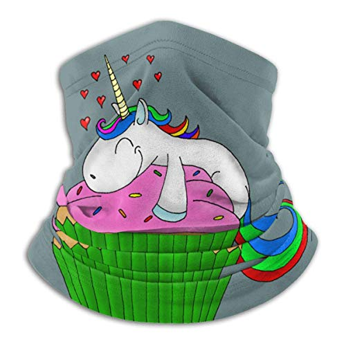 Dydan Tne Unicorn Cupcake Unisex Microfibra Cuello Calentador Headwear Pañuelo Facial