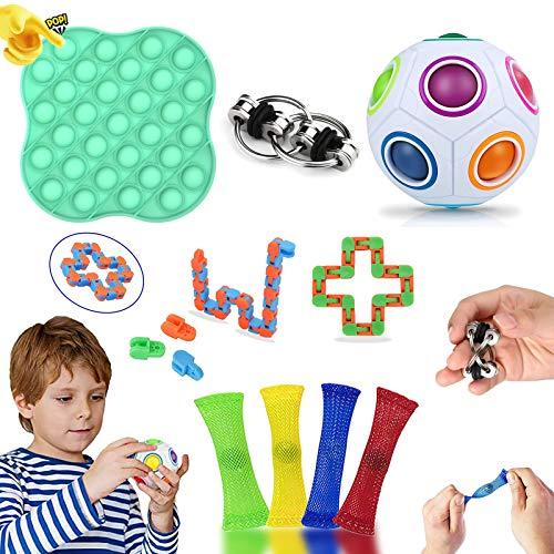LucaSng - Juego de juguetes antiestrés, juguete antiestrés, juguete antiestrés con juguetes de mano, juguete antiestrés, juguete antiestrés, juguete antiestrés, para niños y adultos (9 piezas)