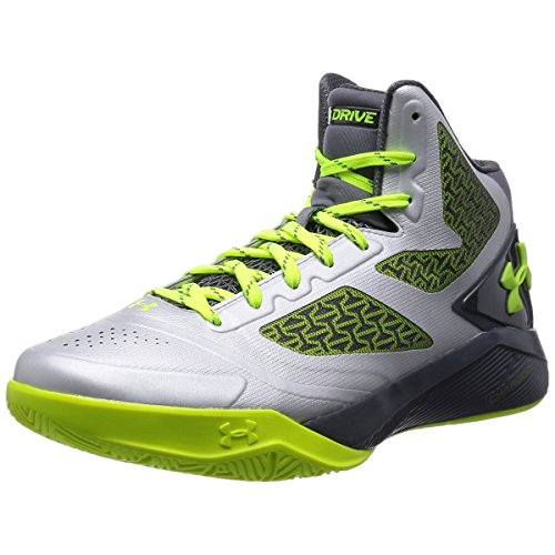 Under Armour Men's UA ClutchFit Drive 2 Metallic Silver/Graphite/High-Vis Yellow 7 M