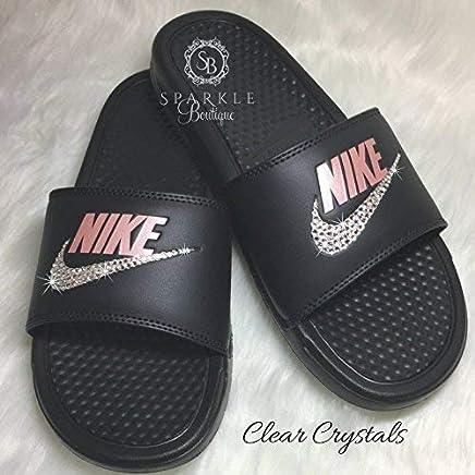 Nike Benassi JDI Slides with Crystals Custom Nike Shoe by SparkleBoutique2U da4edb1b6