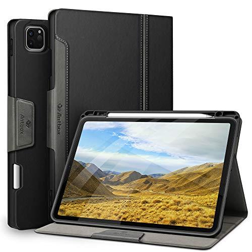 """Antbox Coque iPad Pro 11 2020&2018 [Support de Charge sans Fil Apple Pencil 2ème génération], Étui en Cuir PU de Haute qualité pour iPad Pro 11"""" (Noir)"""