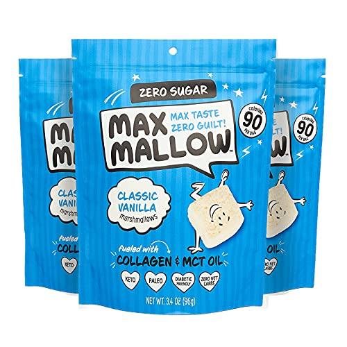 Know Brainer Max Mallow Classic Vanilla Zero Sugar Marshmallows Pack of 3