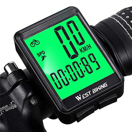 Newace Bike Odometer and Speedometer Wireless Bicycle Computer Waterproof and Multi-Functional with Backlight for Night Cycling