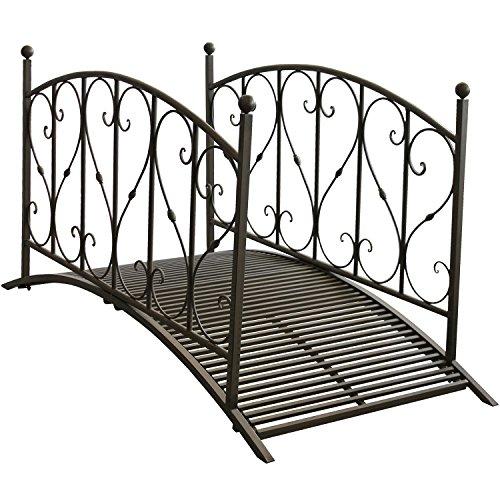 Gartenbrücke aus Metall mit Geländer - 3