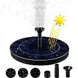 MVPower Solar Springbrunnen, 2.5w Solar Teichpumpe mit Solar Panel und 6 Fontänenstile, Wasserpumpe mit eingebauter Batterie für Gartenteich, Vogel-Bad, Teich, Fisch-Behälter, 200L/H.