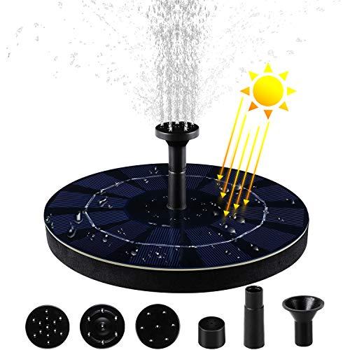 MVPower Solar Springbrunnen, Teichpumpe, Garten Wasserpumpe, Solarpumpe für Vogel-Bad, Fisch-Behälter, Kleiner Teich, Garten, mit Polykristallines PET-Laminat-Solarmodul 2.5W, 200L/H