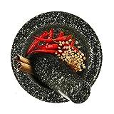 A-myt es Elegante Pestello Amoladora Granito decoración Especia trituradora Amoladora mortero moler tazón ajo Prensa Hierba Pimienta Mezcla Olla Cocina Herramienta Fácil de Usar