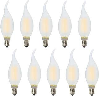 Bombillas LED Regulable Casquillo Fino Vela Luz Blanco Cálido 2700K, Equivalente a 30 W,Paquete de 10