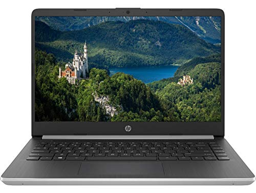 Latest Premium HP 14 HD Slim Laptop Computer PC- 14' Micro-Edge Display 10th Gen Intel Core i5-1035G1 Up to 3.6 GHz 8GB RAM 256GB PCIe SSD + 16GB Optane BT USB Type-C WiFi HDMI Webcam Win 10 -Silver