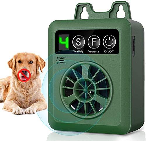 Anti Barking Control Device, Ultrasonic Dog Bark Deterrent Dog Behavior Training Tool with 4 Adjustable Levels, Waterproof Rechargeable Dog Silencer...
