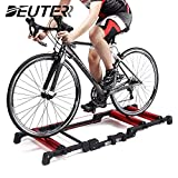 HULKWHEELS Bike Trainer Rollers Indoor Bicycle Exercise Bicycle Roller Trainer Stand Mountain & Road Bike Portable Foldable Home Cycling Training for 24-29 inch