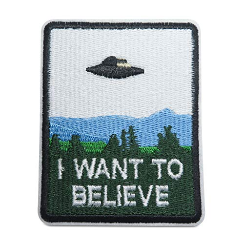 Finally Home I Want to Believe UFO Alien Patches zum Aufbügeln | Patch, Bügelflicken, Flicken, Aufnäher