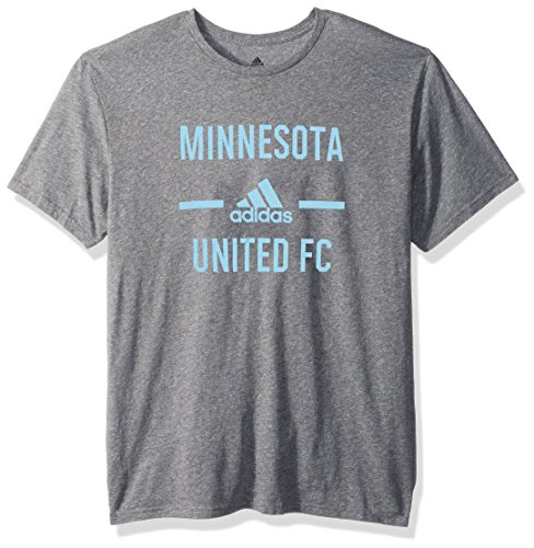 MLS Minnesota United Adult Men Simply Put Tri-Blend S/Tee, Small, Dark Gray Heathered