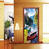 DFKJ Carta da parati per Porte con paesaggi naturali Decorazioni per la casa Adesivi per Poster rimovibili impermeabili autoadesivi sulle Porte Decalcomania Della parete A12 77x200cm