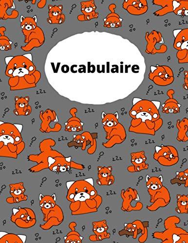 Livre de vocabulaire du panda rouge: Le plus beau livre de vocabulaire que vous ayez jamais eu
