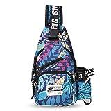 FANDARE Unisex Brusttasche,Messenger Bag Schultertasche für Damen und Herren, Crossbody Bag,zum...