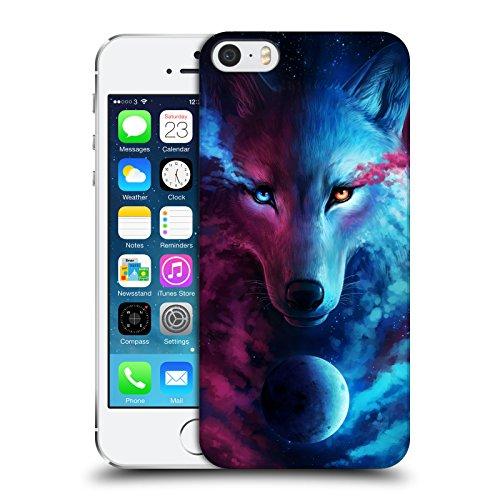 Head Case Designs Officiel Jonas JoJoesArt Jödicke Galaxie De Loup Faune Et Flore Coque Dure pour l'arrière Compatible avec Apple iPhone 5 / iPhone 5s / iPhone Se 2016