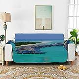 WYYWCY Asombroso Panorama de Las Cubiertas Sunset para sofás Cojines para sofá Sofá Fundas para Muebles 66'(168 cm) para 3 Asientos Lavado a máquina Funda para Silla de Brazo