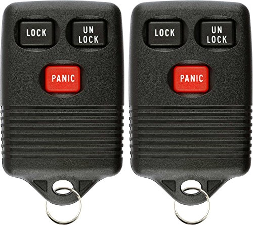 KeylessOption Keyless Entry Remote Control Car Key Fob Replacement for GQ43VT4T (Pack of 2)