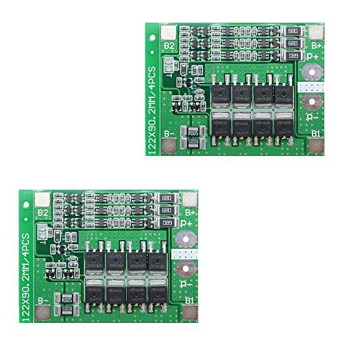 Ximimark 2 Stück 3S 12V 25A 18650 Li-Ion-Lithium-Akku-PCB-Schutzplatine 11,1V 12,6V mit ausgewogenem Schaltkreis, Überladungsschutz, Überstromschutz