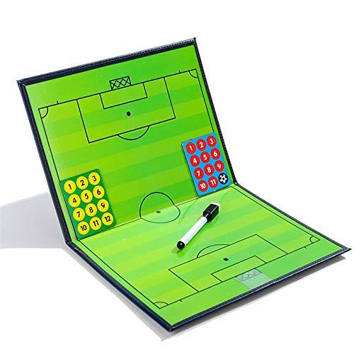 Gracelaza Tragbar Trainer Taktiktafel Fußball - Professional und Faltbar Fussball Taktikmappe Coach-Board mit Magnete, Stifte und Radiergummi(Offene Größe: 44 × 32 cm)#1