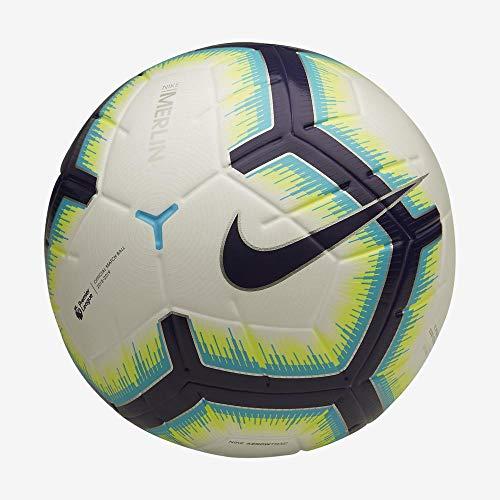 Nike Unisex– Erwachsene PL NK Merlin Fußballbälle, White/Blue/Purple/Purple, 5
