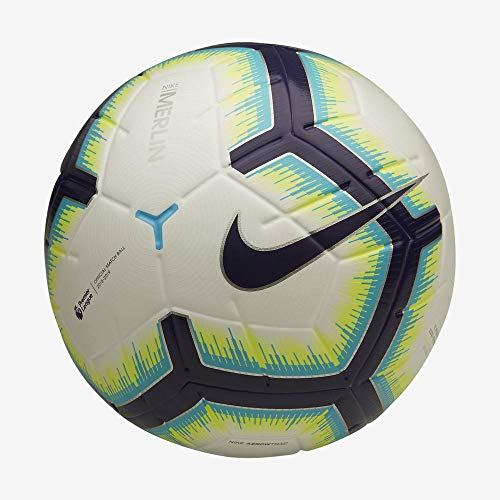 Nike PL NK Merlin, Pallone da Calcio Unisex Adulto, White/Blue Purple, 5