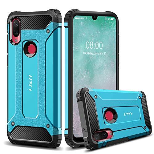 J&D Compatible para Xiaomi Mi Play Case Funda, Protección Pesada [Armadura Delgada] [Doble Capa] Híbrida Resistente Funda Protectora y Robusta para Xiaomi Mi Play Case - Azul