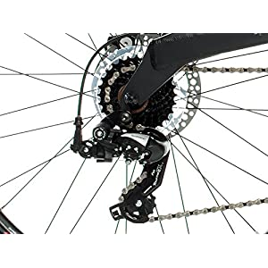 "Moma Bikes Bicicleta Montaña EQX 26""Alu, SHIMANO 24V, Doble Freno Disco, Doble Susp. (Varias Tallas)"