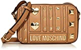 Love Moschino Borsa PU, Bolsa de mensajero para Mujer, Beige (Cammello), 15x23x6 centimeters (W x H x L)