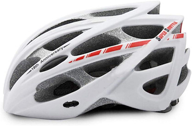 Lanbinxiang@ Road Mountain Bike Equipment Riding Helmet Integrated Ultra Light Adult Men and Women Helmet 30 Hole Breathable Safety Convenient Helmet Predection