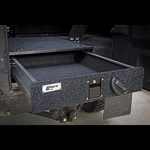 horntools Land Rover Defender 110 Schublade mit Seitenteil Kofferraum