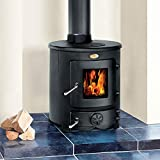 Clarke Barrel II 8kW Cast Iron Wood Burning Stove - 6910101