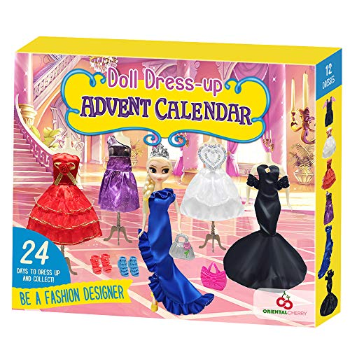 Advent Calendar 2020 - Doll Dress Up Clothes and Accessories for Kids Girls Teens Toddlers - 24 Days of Christmas Countdown