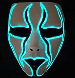 xiayanmei Máscara de luz Nocturna máscara Fluorescente máscara de luz de Baile Fantasma máscara de luz de Cara Completa Hombres y Mujeres máscara de luz nocturna-夜光51
