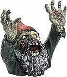 WANA Zombie-Zwerg aus Kunstharz, gruselige Zombie-Statue, Horror-Film-Gartenzwerge, Zombie-Zwerg, Outdoor-Ornamente, Halloween-Skulptur für Terrasse, Hof, das beste Geschenk für Horrorfilm-Liebhaber.